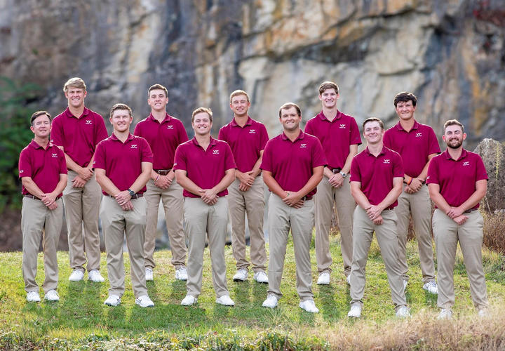 virginia tech mens golf team at pete dye river course